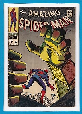 Amazing Spider-Man #67_Dec 1968_Very Good_Mysterio_Silver Age John Romita!