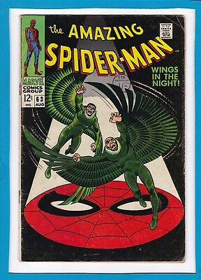 "Amazing Spider-Man #63_August 1968_Very Good_Vulture X2_""wings In The Night""!"