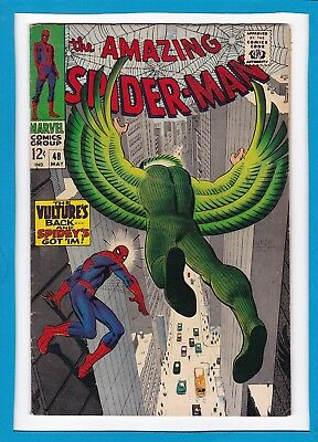 Amazing Spider-Man #48_May 1967_Fine_Return Of The Vulture_Silver John Romita!