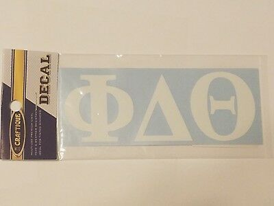 PI KAPPA PHI Sticker of Letters for Outside Glass COMPU-CAL Decal White