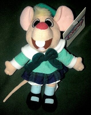 """Disney The Great Mouse Detective OLIVIA 8"""" Bean bag plush beanie Doll toy NEW"""
