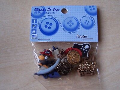 5 PIECES CRAFTS//CARDMAKING NOAHS ARK DRESS IT UP BUTTONS
