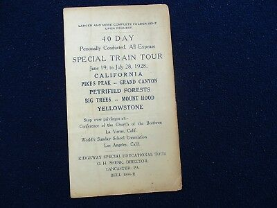 1928 Pikes Peak,Yellowstone,Grand Canyon,Mt. Hood,NICE Train Tour,Time booklet!