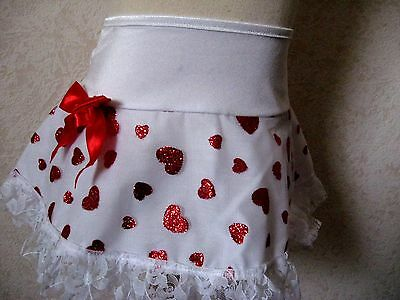 New cute Baby girls white red sparkly hearts lace Skirt 18-24 mths Party Gift