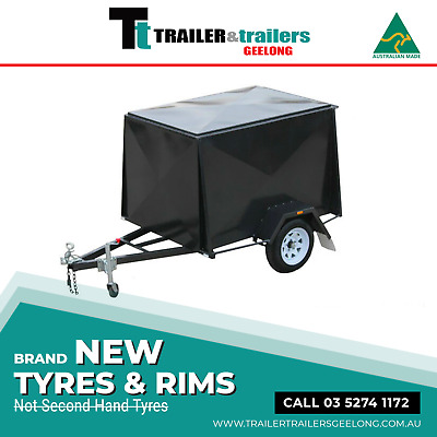 6x4 ENCLOSED VAN TRAILER | 4FT HIGH | CHECKERPLATE FLOOR | T&t GEELONG