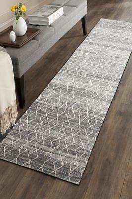 Hallway Runner Hall Runner Rug Modern Grey 4 Metres Long Edith 257