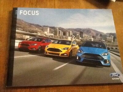 2018 Ford Focus with RS brochure new
