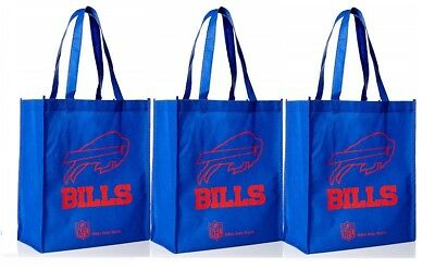 Go Green NEW 3 Denver Broncos Reusable Shopping Grocery Tote Gift Bags