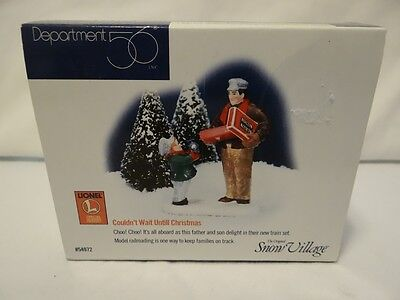 Dept 56 Snow Village Couldn't Wait Until Christmas Lionel 54972 Father Son