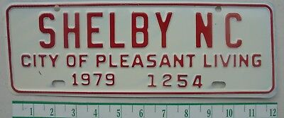 "1979 Vintage SHELBY, NC. ""CITY OF PLEASANT LIVING""City Topper License Plate 1254"