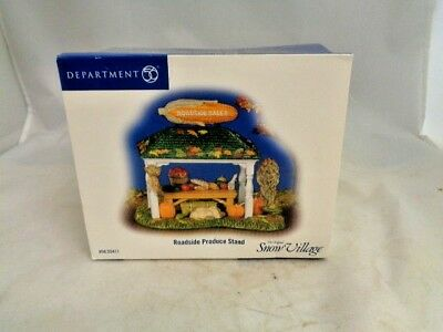 Dept 56 Roadside Product Stand Snow Village