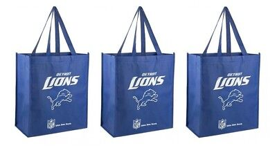 3 Los Angeles Chargers Reusable Shopping Grocery Tote Gift Bags Go Green NEW