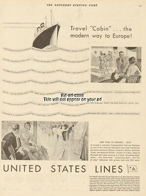 1929 United States Lines SS Leviathan President Harding Roosevelt America Ad