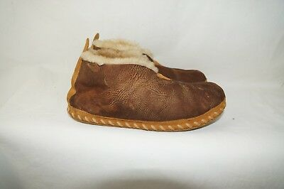 cc86713df9c LL Bean Wicked Good Shearling Sheepskin Slippers Booties Shoes MEN S ...