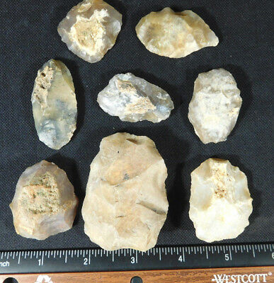 A Lot of Authentic 55,000 to 12,000 Year Old Aterian Early Man Artifacts! 161gr