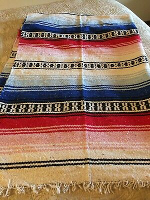 Made in Mexico Mexican Serape Falsa Throw Blanket Multi Colors #1