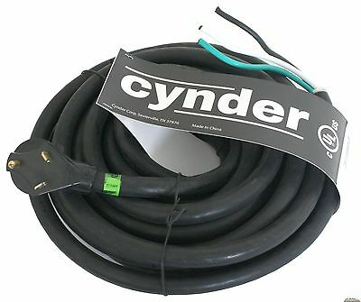 Cynder RV Replacement Power Cord 30 Amps 25' Foot Male