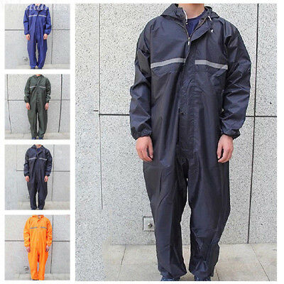 Motorcycle Rain Suit Raincoat Overalls Waterproof Mens Work Jumpsuit Outdoor Lot