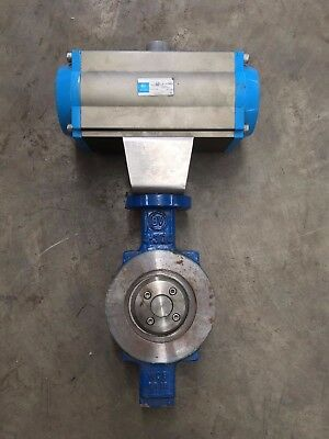 Brook Valves, butterfly valve with pneumatic actuator bv4-300 (valve) F07/F10-NN