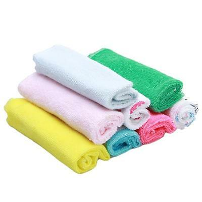 8pcs Soft Baby Newborn Infant Boy Girl Bath Towels Washcloth Wipe Burp Cloth LC