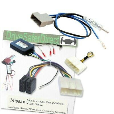 SWC-5236-02J Stalk Adaptor,ISO-JOIN for Android Chinese Radio//Nissan Note 05-09