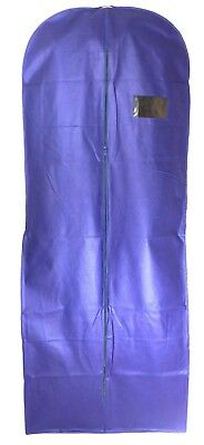 """Navy 70"""" Breathable Long Dress Zip Cover Bag For Bridal Wedding Gown 9"""" Gusset"""