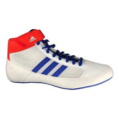 New Adidas Havoc HVC Mens Senior Boxing Wrestling Boots White/Blue Shoes rrp £60