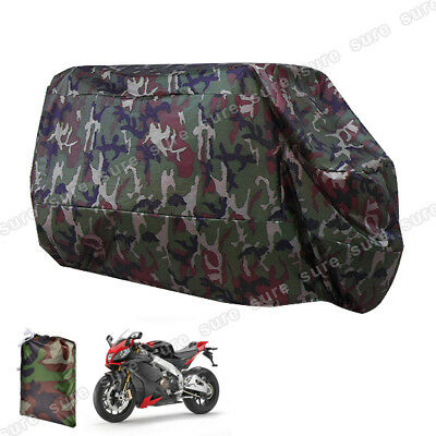 Noir camouflage Housse Bache protection moto polyester impermeable anti soleil