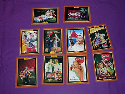 Coca-Cola Collector Cards Series 4 Mixed Lot 10 Cards 1995