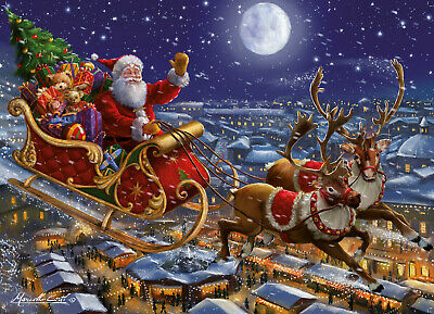 1000 Piece Christmas Jigsaw Puzzle Santa's Sleigh Ride on Christmas Eve 05768