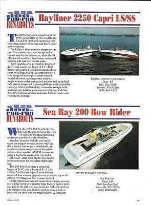 1995 SEA RAY boat sales brochure catalog - FULL LINE POSTER
