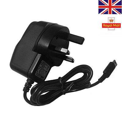 Ce Approved Uk Mains Wall Charger Adapter 3 Pin Plug For Nintendo Ds Lite Ndsl