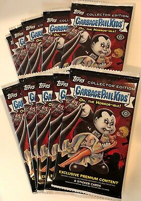 10 COLLECTOR PACKS Topps Garbage Pail Kids OH, THE HORROR-IBLE Trading Cards GPK