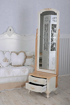Standing Mirror White Full Length Mirror Country Style Mirror