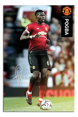 Manchester United Paul Pogba 2018 - 2019 Poster New - Maxi Size 36 x 24 Inch