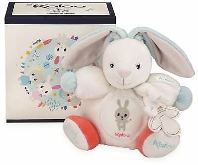 Kaloo CHUBBY RABBIT WHITE - SMALL Baby Soft Toys Activities Gift BN