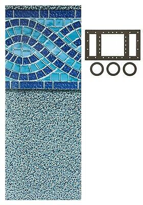 MARINA Round Oval Swimming Pool Unibead Replacement Liner Choose Size