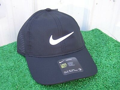 c46ed0a3df8d5 Nike Golf Women s Black Aerobill Adjustable Light Perforated Golf Hat Cap  NEW