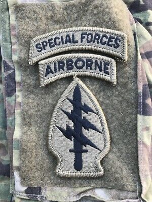 US ARMY Special Forces Airborne MULTICAM OCP Klett patch m Hakenklett