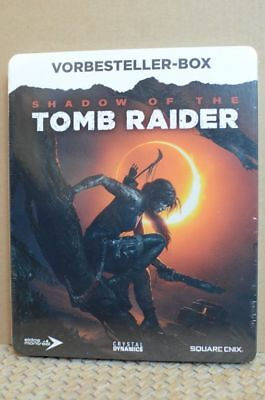 SHADOW OF THE TOMB RAIDER METALCASE Steelbook + 3 Artcards ohne Spiel neuwertig