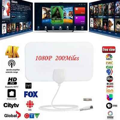 Indoor HDTV 200 Mile Range Antenna TV HD Skylink 4K Antena Home Digital 1080p