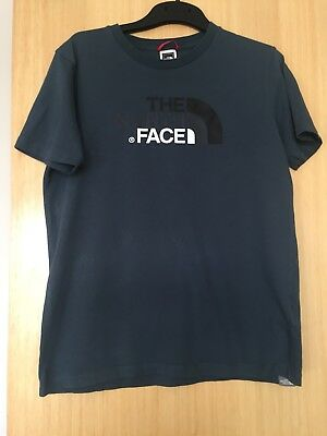 Boys Short Sleeve Crew Neck T Shirt The North Face Blue Age 14-15 Years Vgc