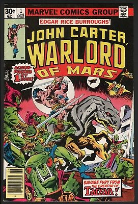 John Carter Warlord Of Mars #1 1977 Marvel Bronze Age First Issue!