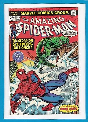 """Amazing Spider-Man #145_June 1975_Very Fine+_""""the Scorpion Stings But Once""""!"""