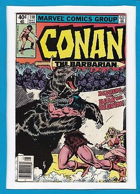"""Conan The Barbarian #110_May 1980_Vf/nm_""""the Bear Of Heaven""""_Bronze Age Marvel!"""