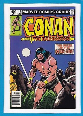 """Conan The Barbarian #112_July 1980_Vf/nm_""""siege Of The Bear-God""""_Bronze Age!"""