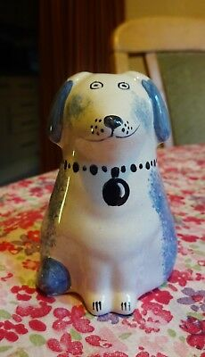 Rye Pottery Small Dog. Rare. With Decorators Mark?...please see listing
