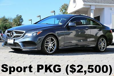 2016 Mercedes-Benz E-Class E400 4Matic Coupe Sport PKG 2016 Sport PKG P II PKG Full LED Headlights Gray on Red Leather AWD Like New