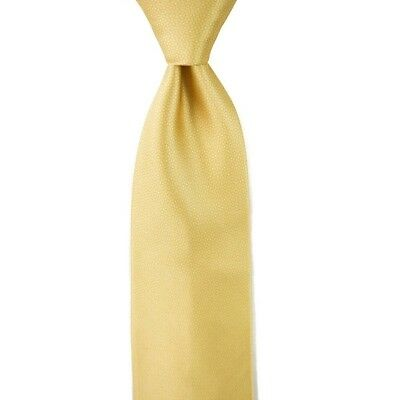 59226ab2cadc $295 NWT ZILLI Light Honey Yellow Micro-Pattern Satin Silk Tie Made In  France