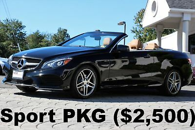 2016 Mercedes-Benz E-Class E400 Cabriolet Sport PKG 2016 Sport PKG P II PKG Black on Natural Beige Nappa Leather Auto Like New